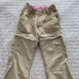 REI zip-off hiking pants for child
